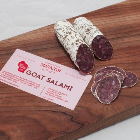 Underground Meats Goat Salmai 2oz-Galena River Wine and Cheese