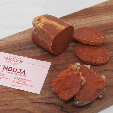 Underground Meats 'Nduja 3oz - Galena River Wine and Cheese