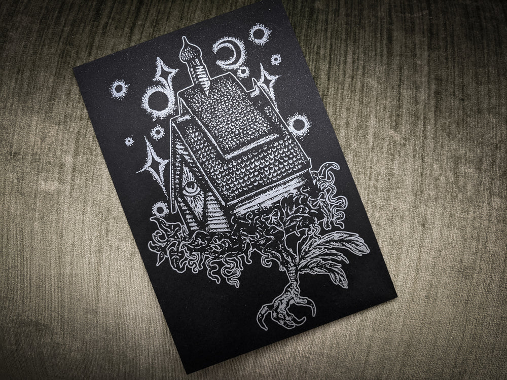 Baba Yaga Letterpress Printed Illustration