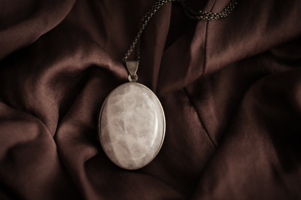 Rose Quartz Perfume Locket