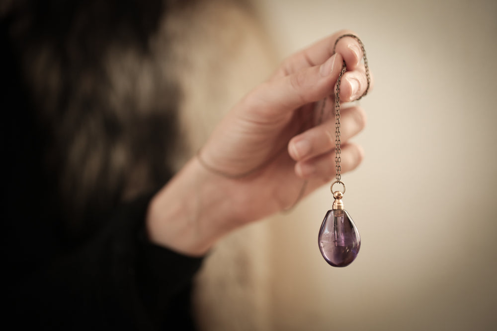 The Teardrop Crystal Perfume Amulet