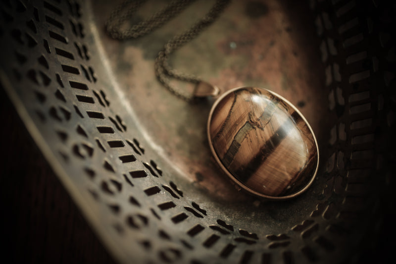 Tiger's Eye Perfume Locket