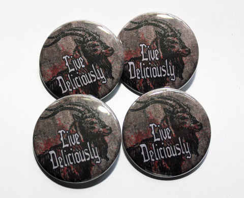 "Black Phillip 1.5"" Pinback Button or Magnet"
