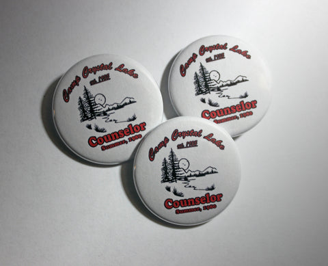 "Camp Crystal Lake Counselor 1.5"" Pinback Button or Magnet"