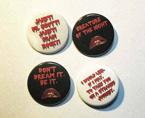 "Picture Show 1.5"" Pinback Button or Magnet 4 Pack"