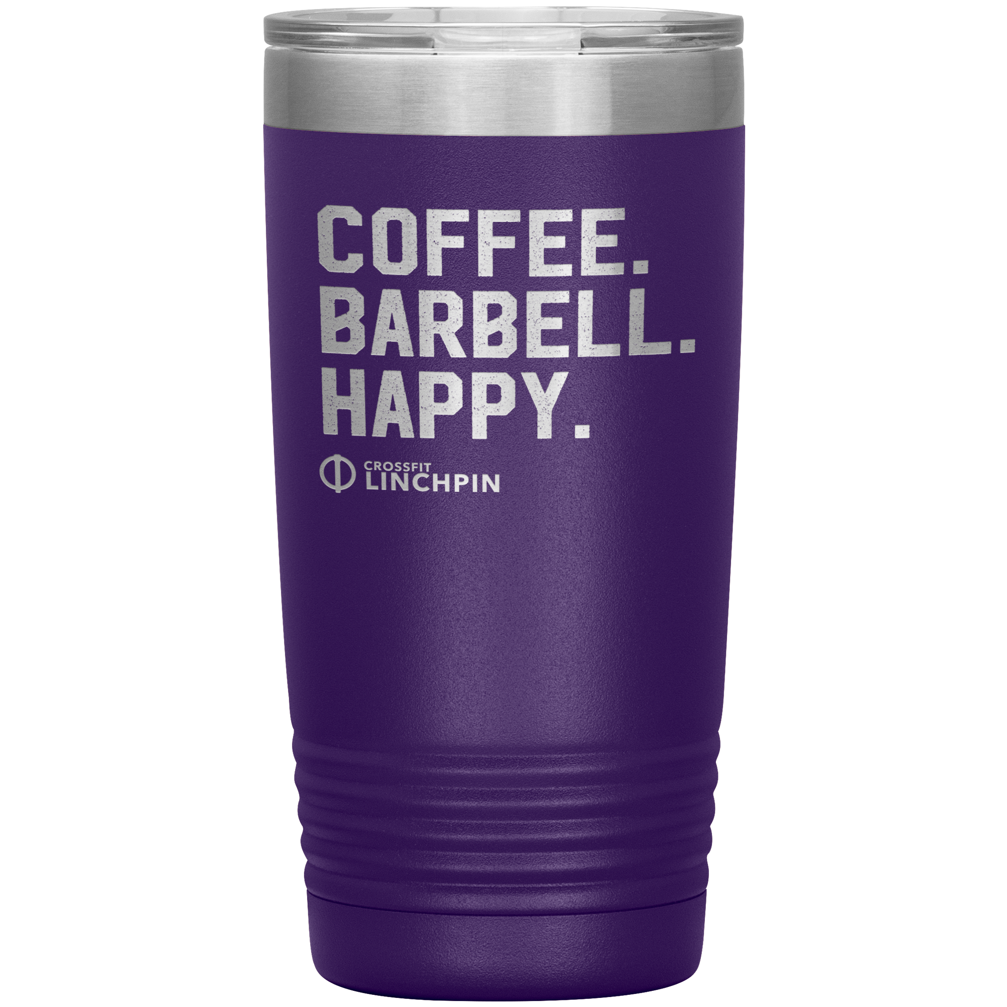 Coffee. Barbell. Happy. - 20oz Tumbler