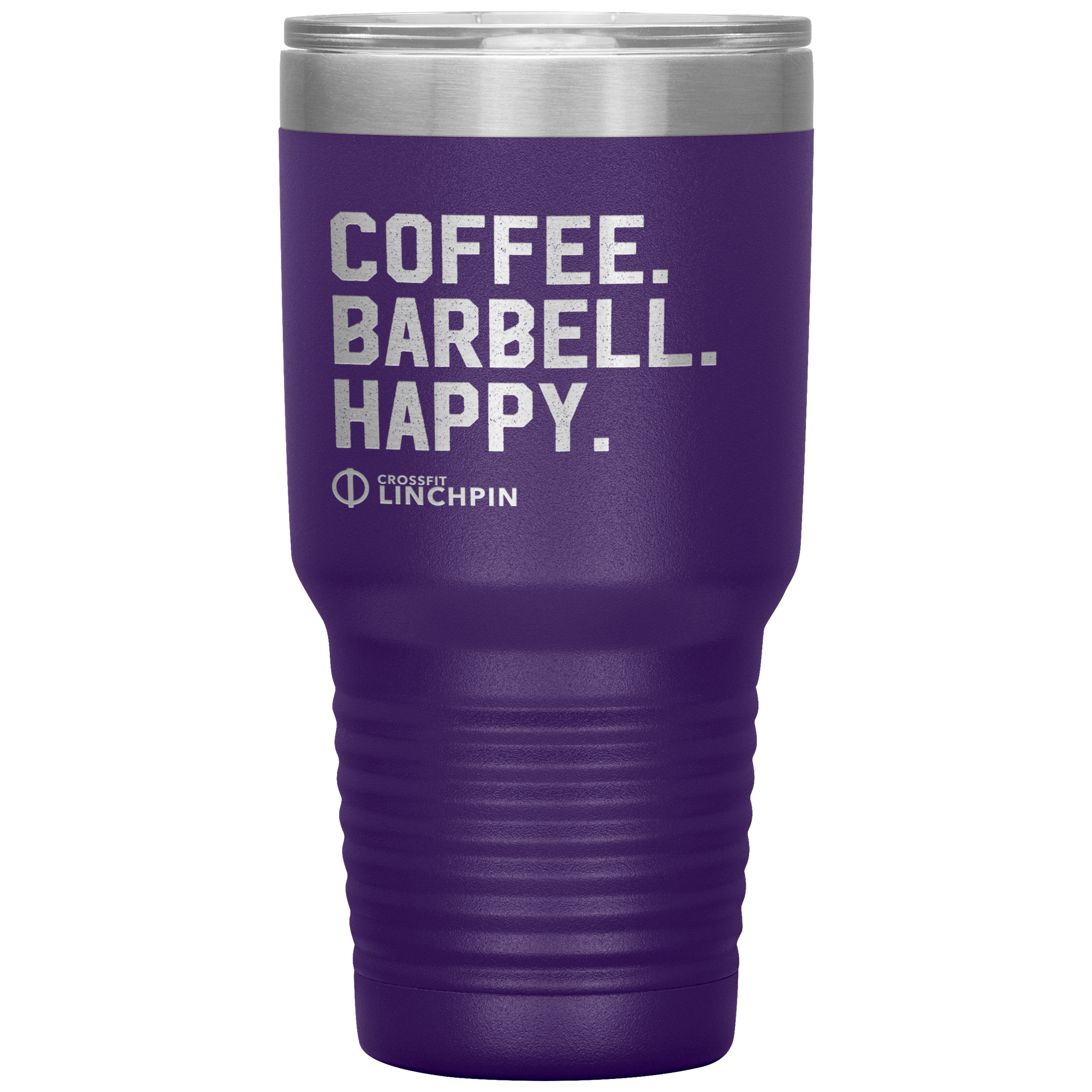 Coffee. Barbell. Happy. - 30oz Tumbler