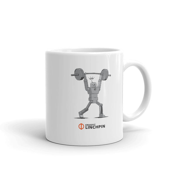 The Super Fitness Robot Clean & Jerk Mug