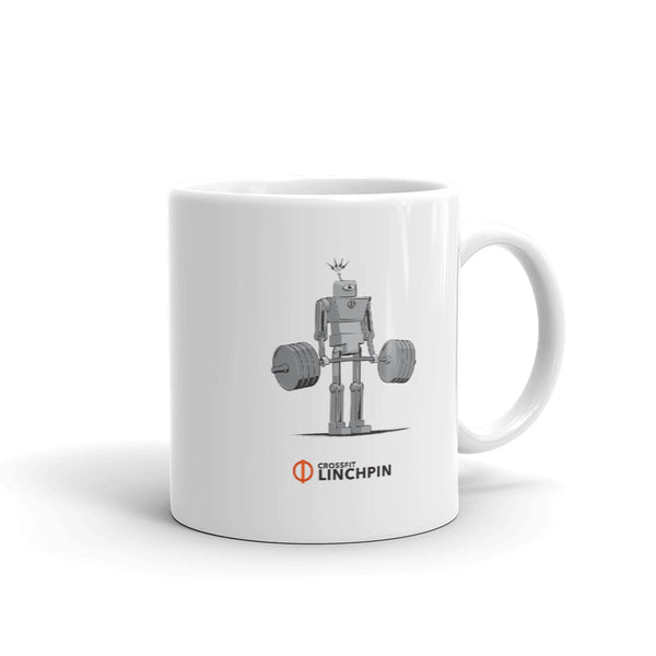 The Super Fitness Robot Deadlift Mug