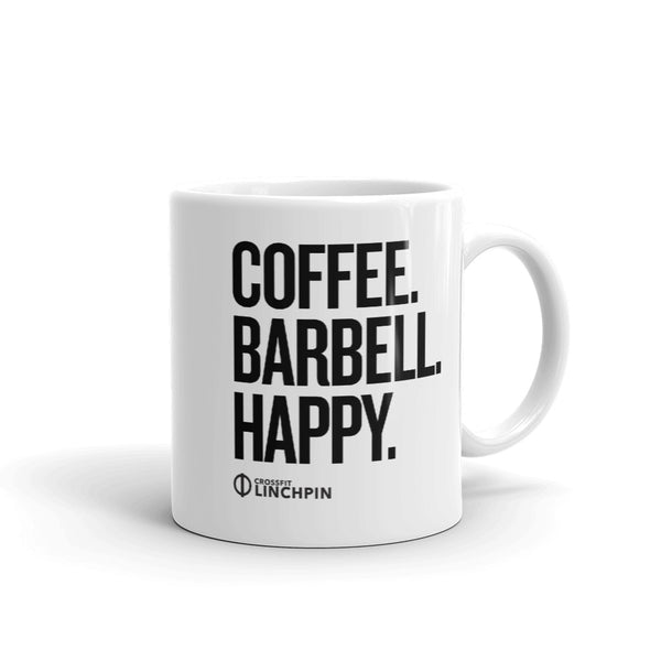 Coffee. Barbell. Happy. - Coffee Mug