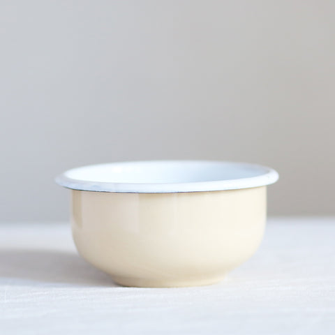 Enamel Cereal Bowl - Cream