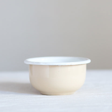 Enamel Dessert Bowl - Cream