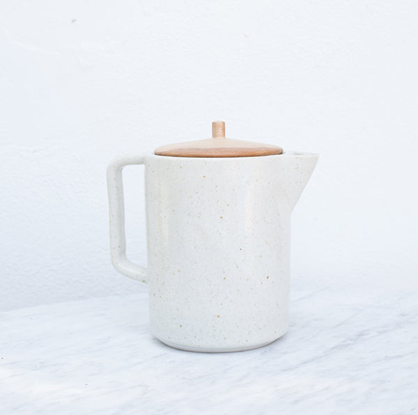 Ceramic Carafe w/ wood lid