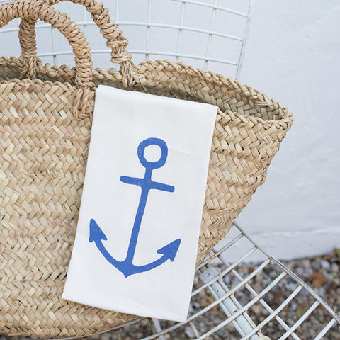 A la Mar Tea Towel - Anchor