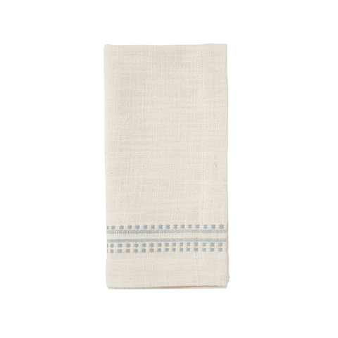 Kitchen Cloth/Napkin - Dotted French Stripe - Cloud
