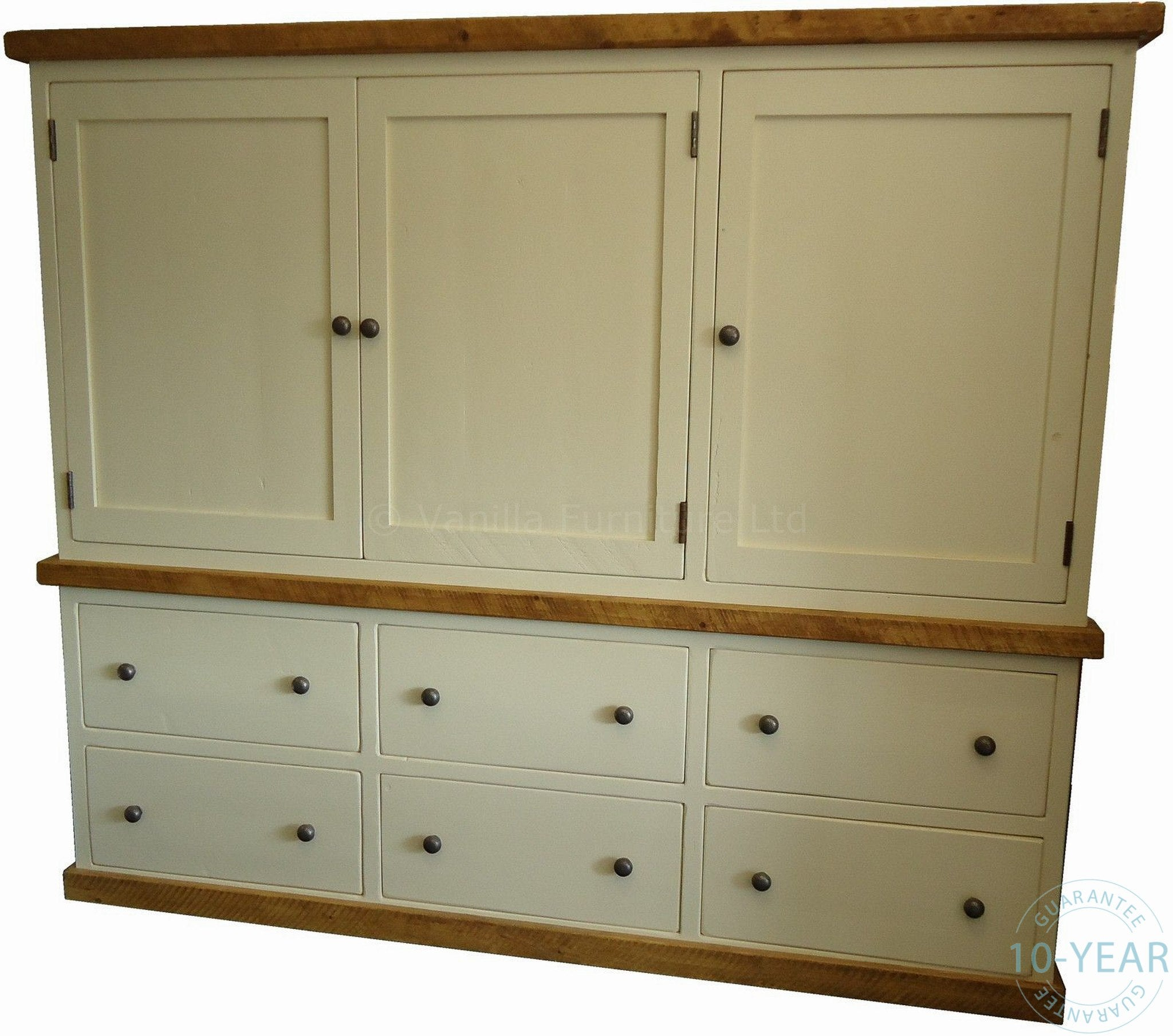 Customer Reviews & A Painted Kitchen 3 Door 6 Drawer Housekeeping Larder Cupboard ...