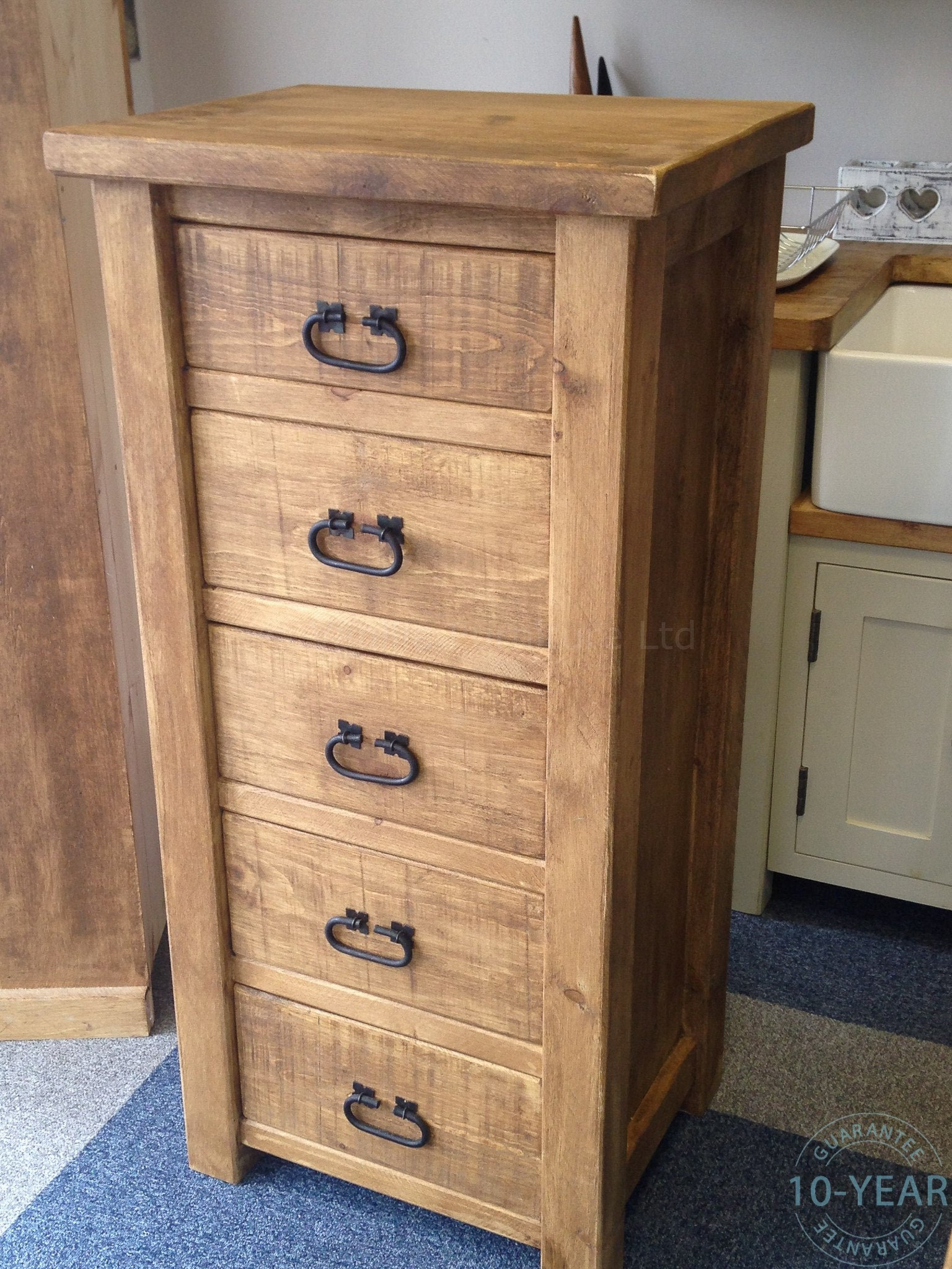 rustic tallboy reviews plank dresser products solid wood chest vanilla a customer furniture slim drawer