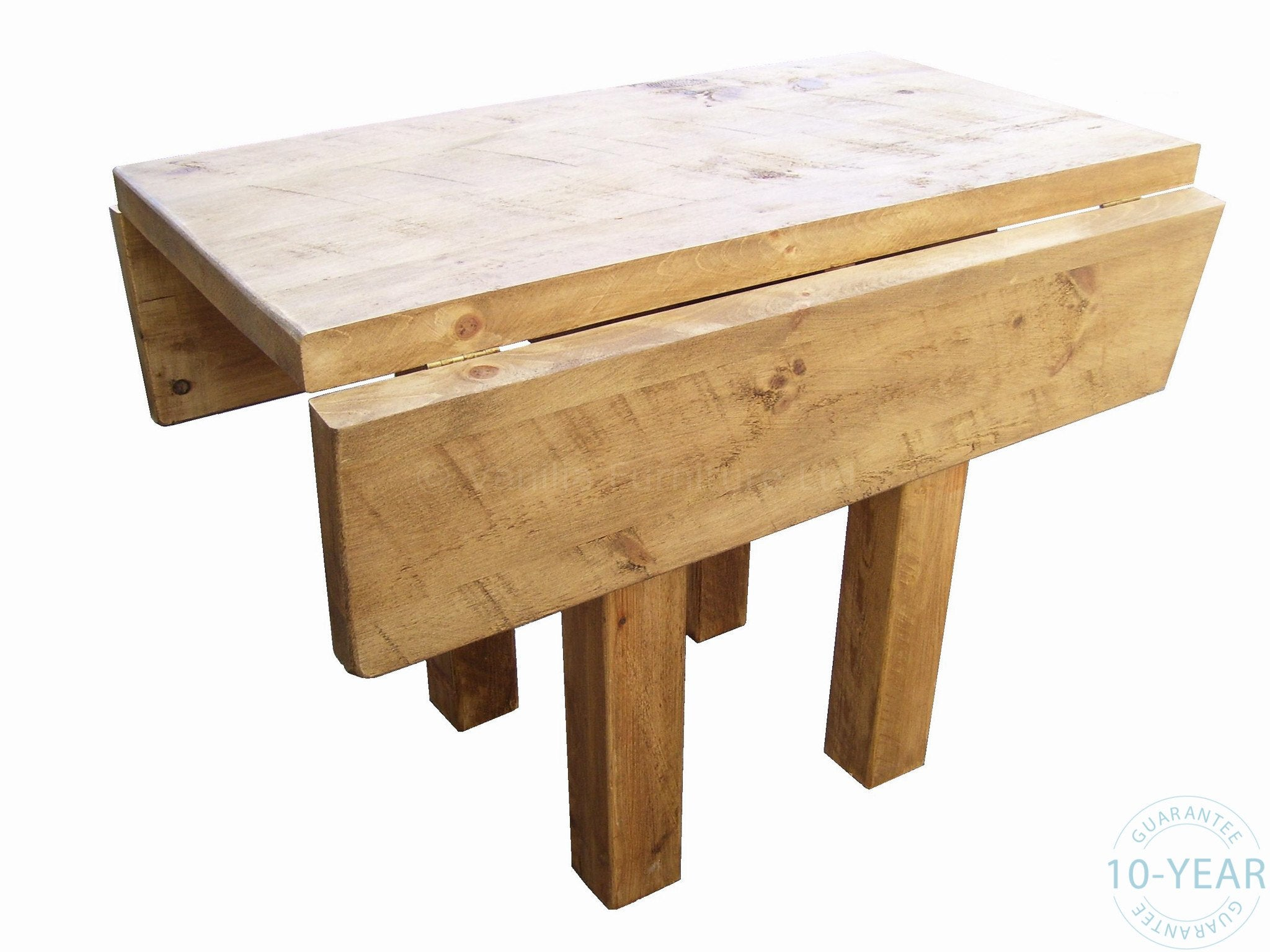Rustic plank 39 drop leaf 39 kitchen dining table vanilla for Kitchen table with leaf