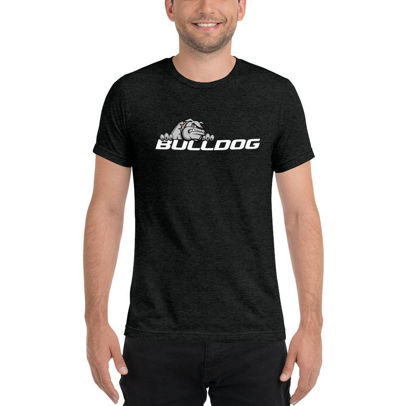Bulldog Targets Charcoal-Black Triblend / XS Dog Wear - Mens Tri-Blend Tee (Dark Colors)