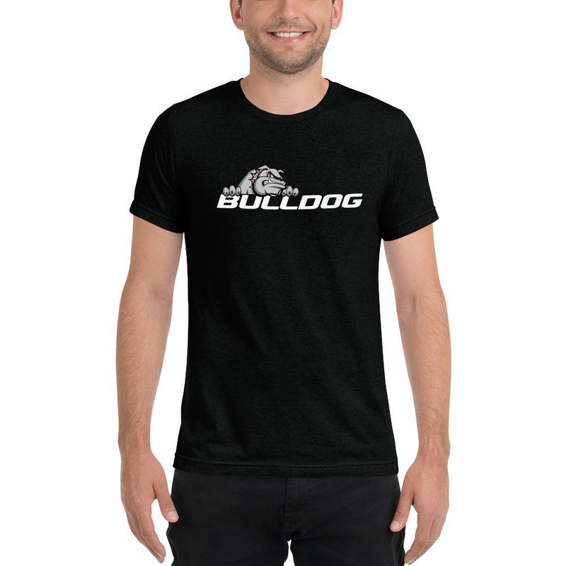 Bulldog Targets Solid Black Triblend / XS Dog Wear - Mens Tri-Blend Tee (Dark Colors)