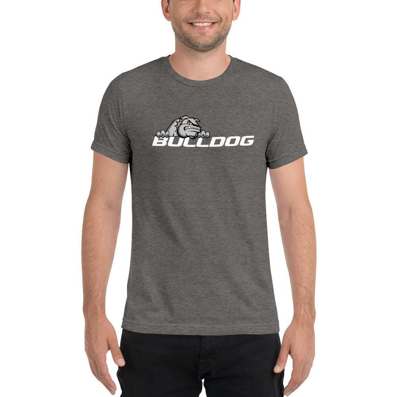 Bulldog Targets Grey Triblend / XS Dog Wear - Mens Tri-Blend Tee (Dark Colors)