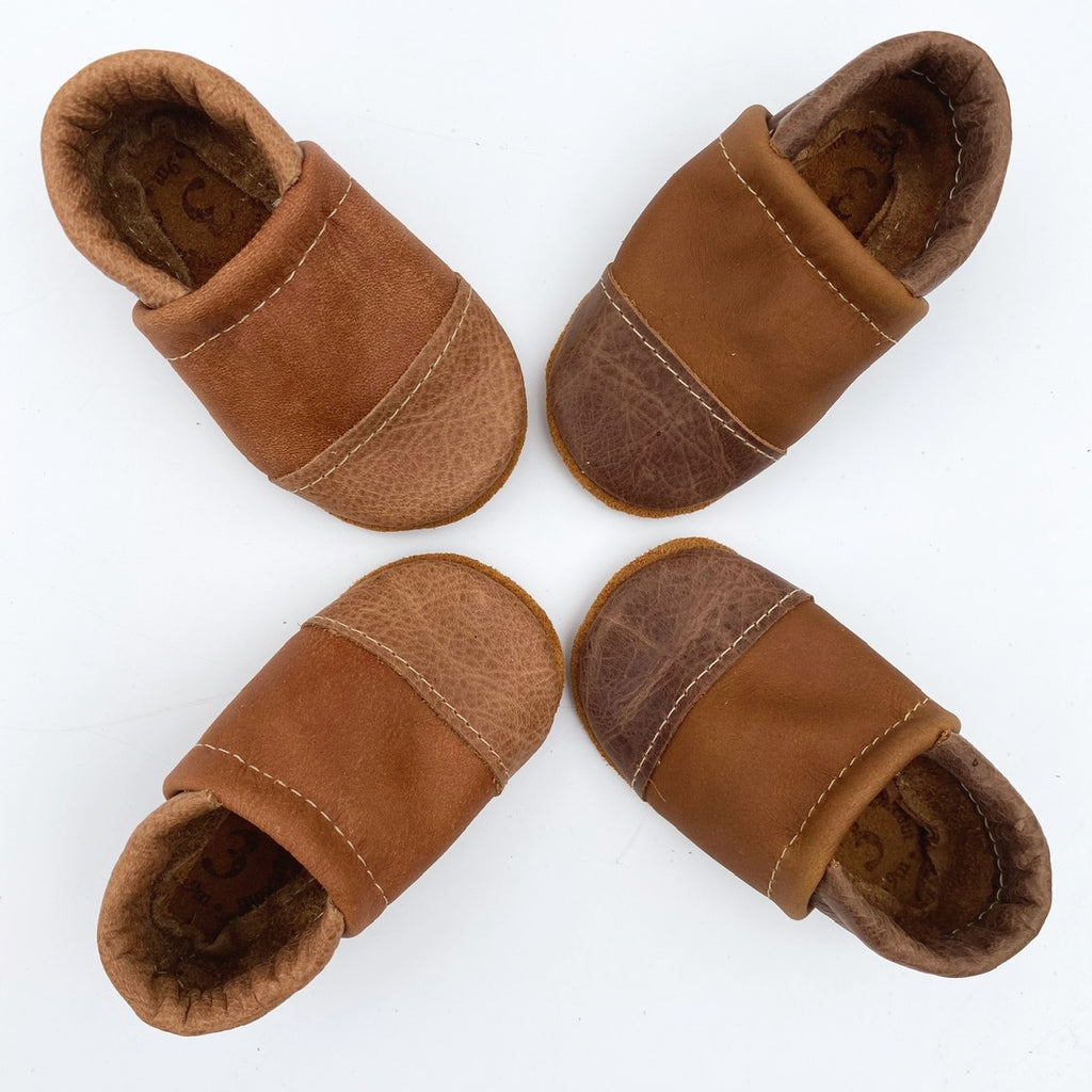 Two-Tone Loafer Baby and Toddler Shoes(Wood/Tribe, Carob/Oak)