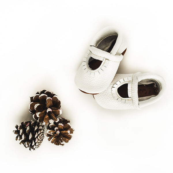 White Mary Jane MOCCS Baby and Toddler