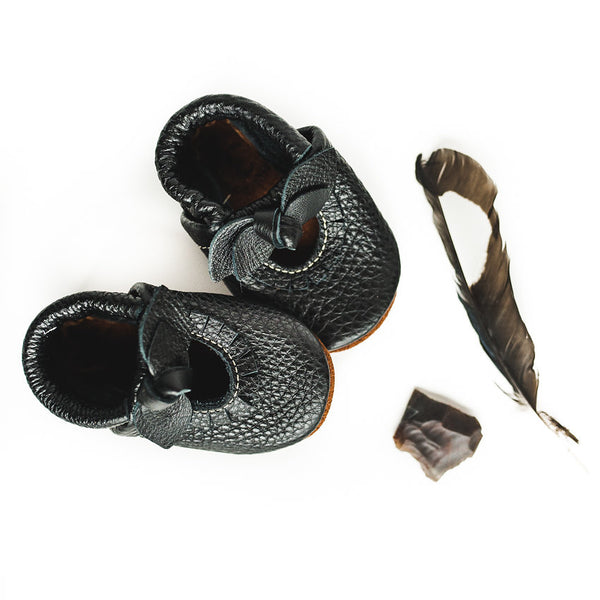 BOW Black Mary Jane MOCCS Baby and Toddler