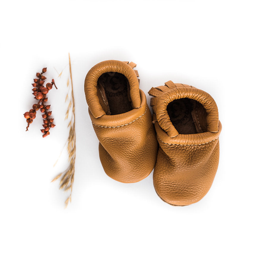 Honey Leather Moccs Shoes Baby and Toddler