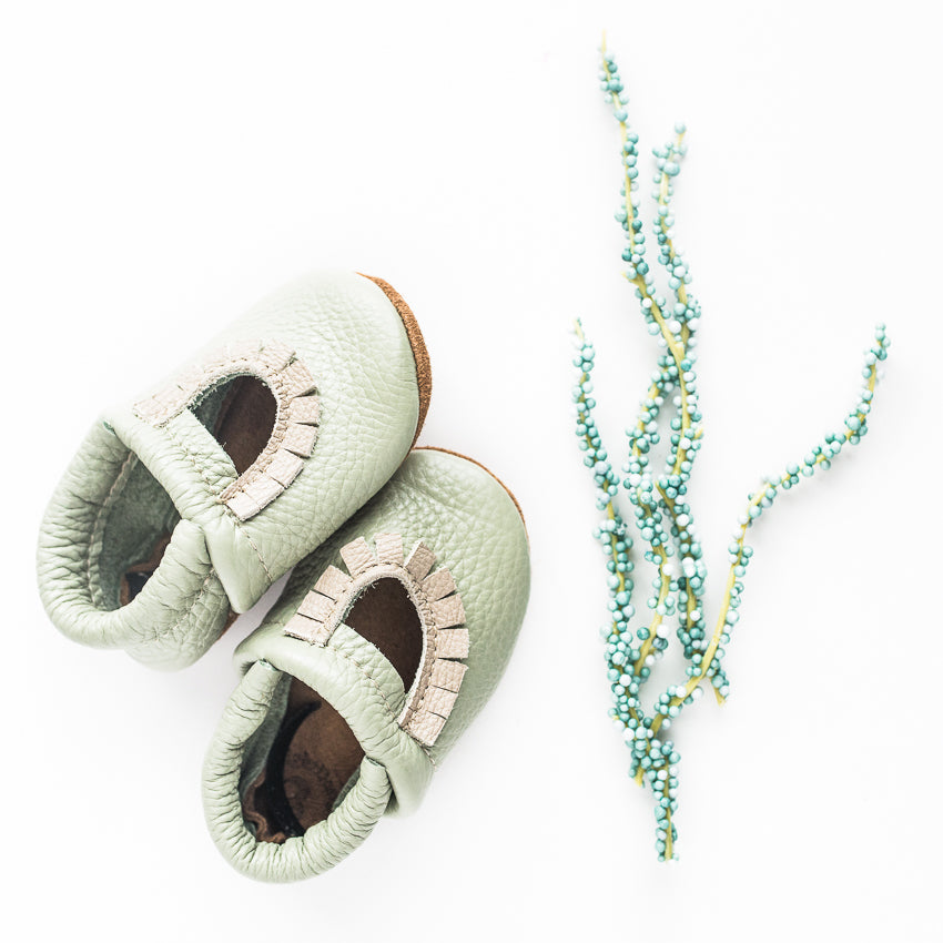 Tea Green Mary Jane MOCCS Baby and Toddler