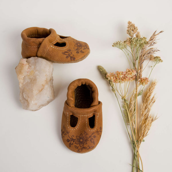 Tribe Floral Stamp T-Strap Shoes Baby and Toddler
