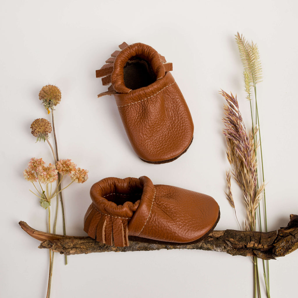 Sienna  Leather Moccs Shoes Baby and Toddler