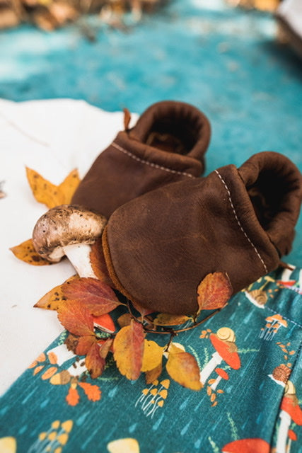 Rust Leather Moccs & Loafers Shoes Baby and Toddler