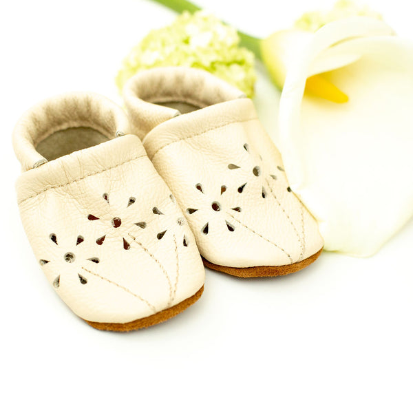 Cream BLOSSOMS Shoes Baby and Toddler