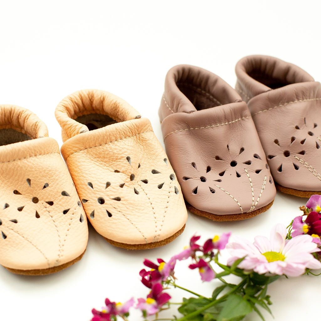 Peach & Dusty Rose BLOSSOMS Shoes Baby and Toddler