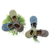 Moss, Denim, Iron Leather Moccs Shoes Baby and Toddler