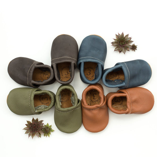 Loafer Baby and Toddler Shoes(Moss, Denim, Iron, Sienna)