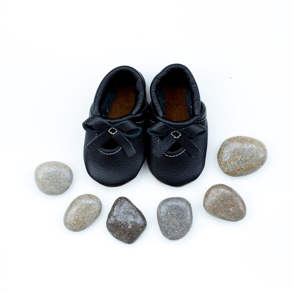Black BALLET BOW FLATS Baby and Toddler