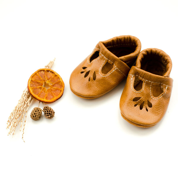 Caramel LOTUS T-strap Shoes Baby and Toddler