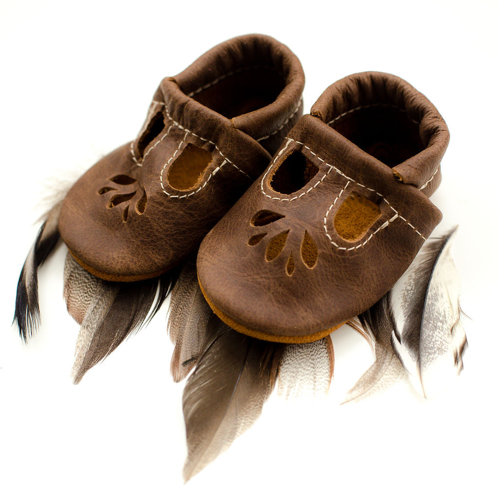 Carob LOTUS T-strap Shoes Baby and Toddler