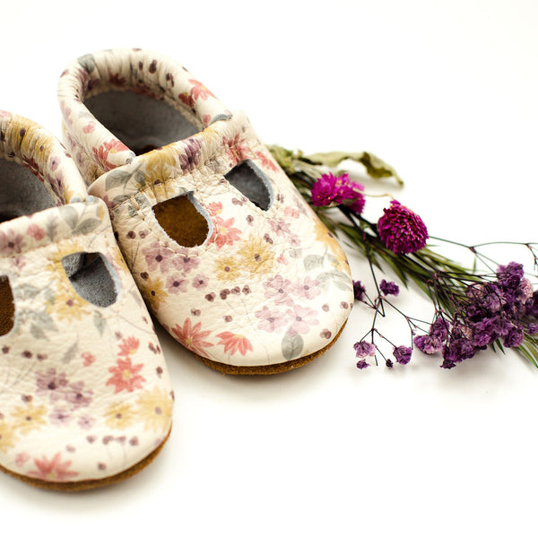Autumn Floral T-strap Shoes Baby and Toddler