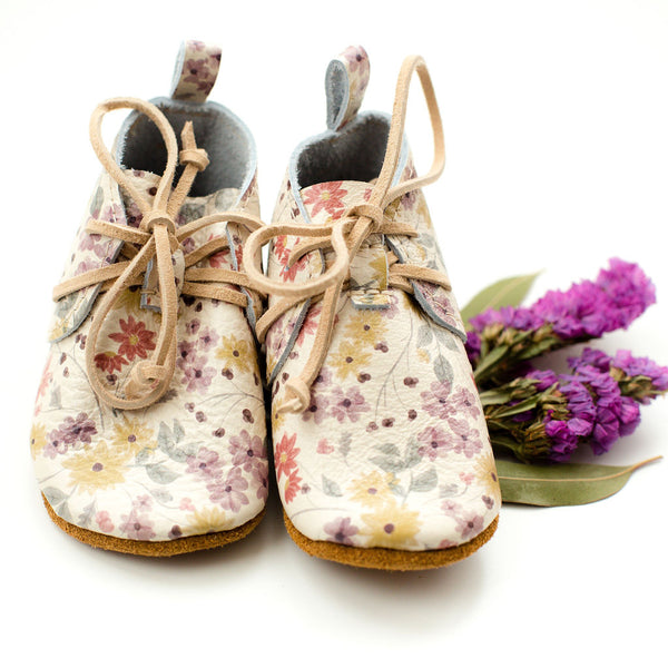 Autumn Floral LACE UP BOOTIES Baby and Toddler