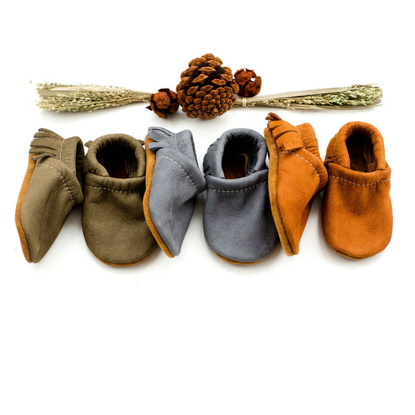 Nubuck Leather Moccs Shoes Baby and Toddler