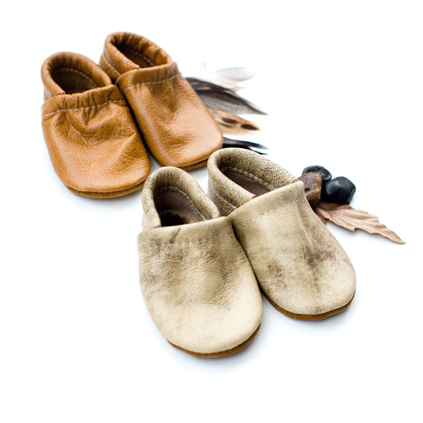 Aspen, Caramel Leather Loafers Shoes Baby and Toddler