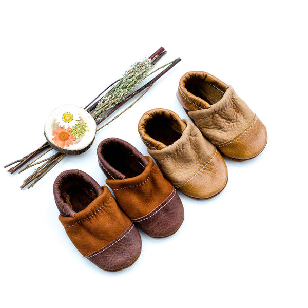Two Tone Loafer Baby and Toddler Shoes( Caramel/Potato)