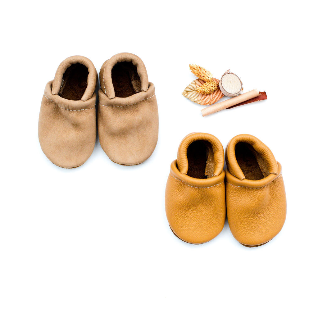 Potato, Honey Leather Loafers Shoes Baby and Toddler