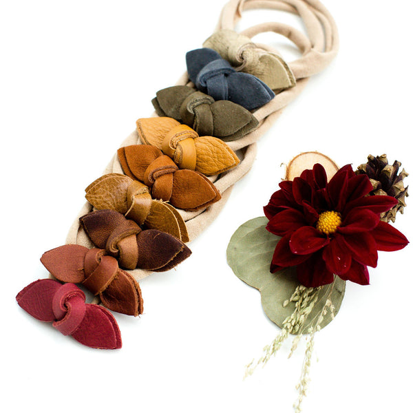 Fall Knotted Bow Headbands// Pick Your Color