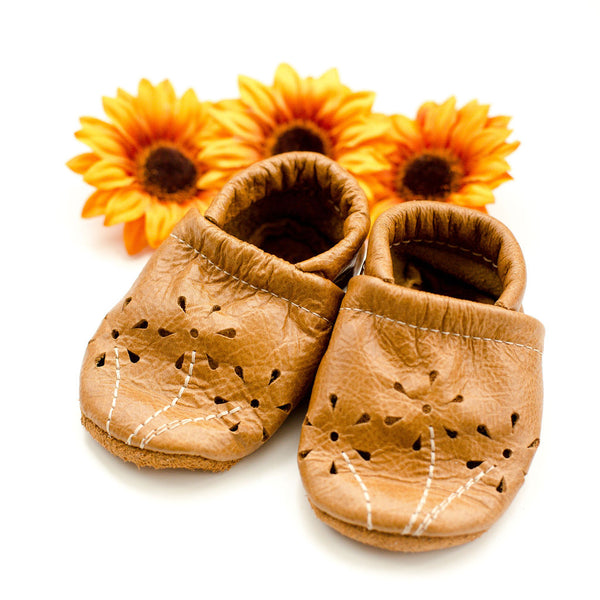 Caramel BLOSSOMS Shoes Baby and Toddler