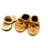 Caramel BALLET BOW FLATS Baby and Toddler