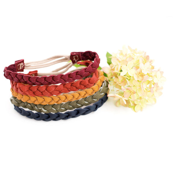 Fall Colors Braided Headband// Pick Your Color